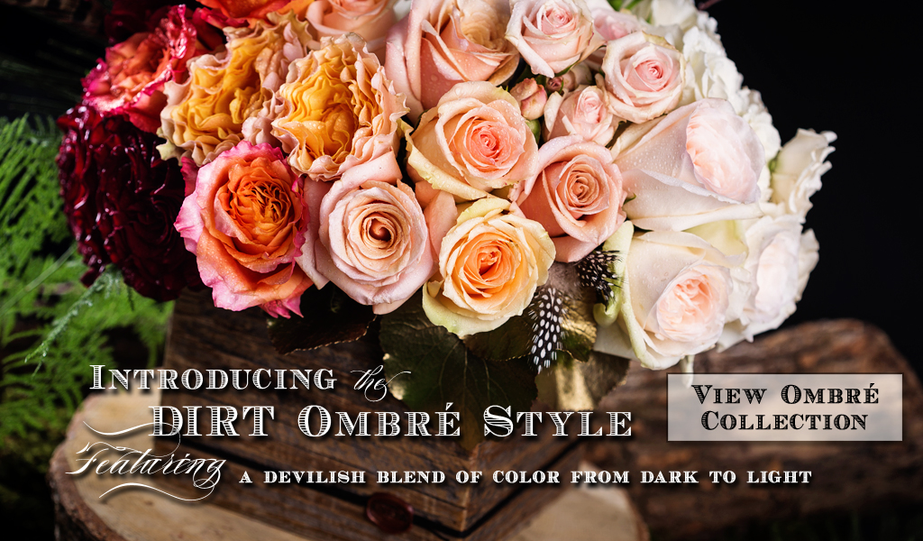 DIRT Ombre Style Flower Arrangements Dallas, TX