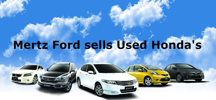 Mertz Ford Sells Used Honda's